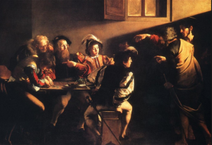 "Caravaggio ""The Calling of St Matthew"""