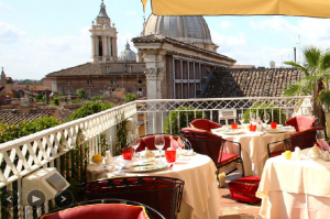 Terrace at Hotel Raphael